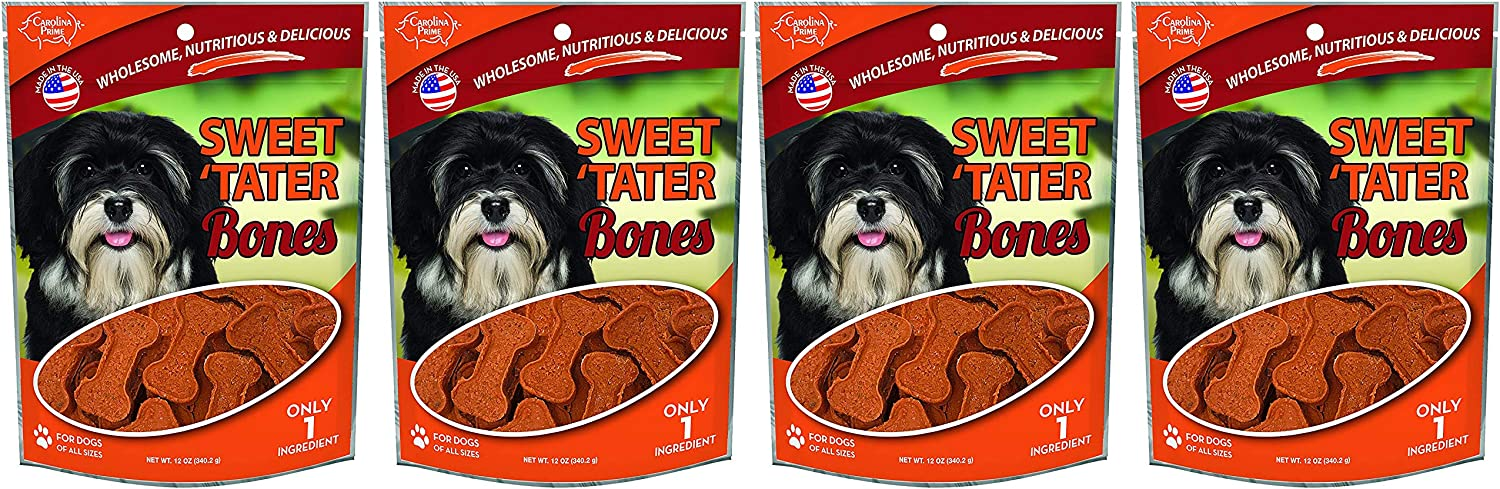 Carolina Prime Pet 45281 Sweet Tater Bone Treat for Dogs 1 Pouch , One Size