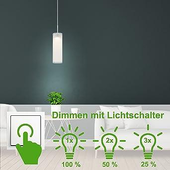 Deckenbeleuchtung Wohnzimmer Licht 21 Watt LED Chrom moderne Pendellampe Leuchte