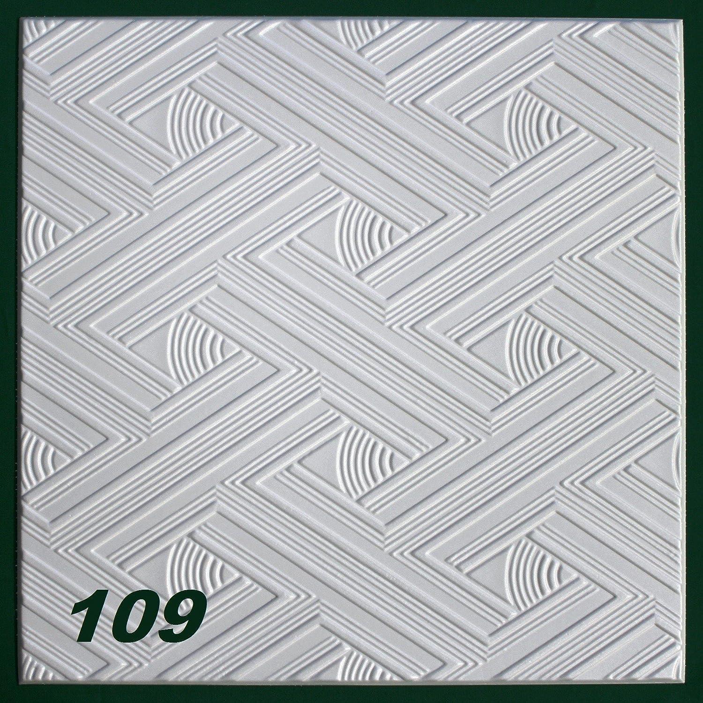 20 M2 Deckenplatten Styroporplatten Stuck Decke Dekor Platten 50x50cm Nr109 Amazonde Baumarkt