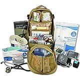 Lightning X Premium Stocked Tactical EMS/EMT Trauma First Aid Responder Medical Kit Backpack