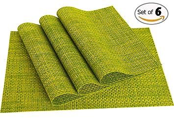 pvc placematsmate woven vinyl washable table mats heat resistant non slip placemats. beautiful ideas. Home Design Ideas