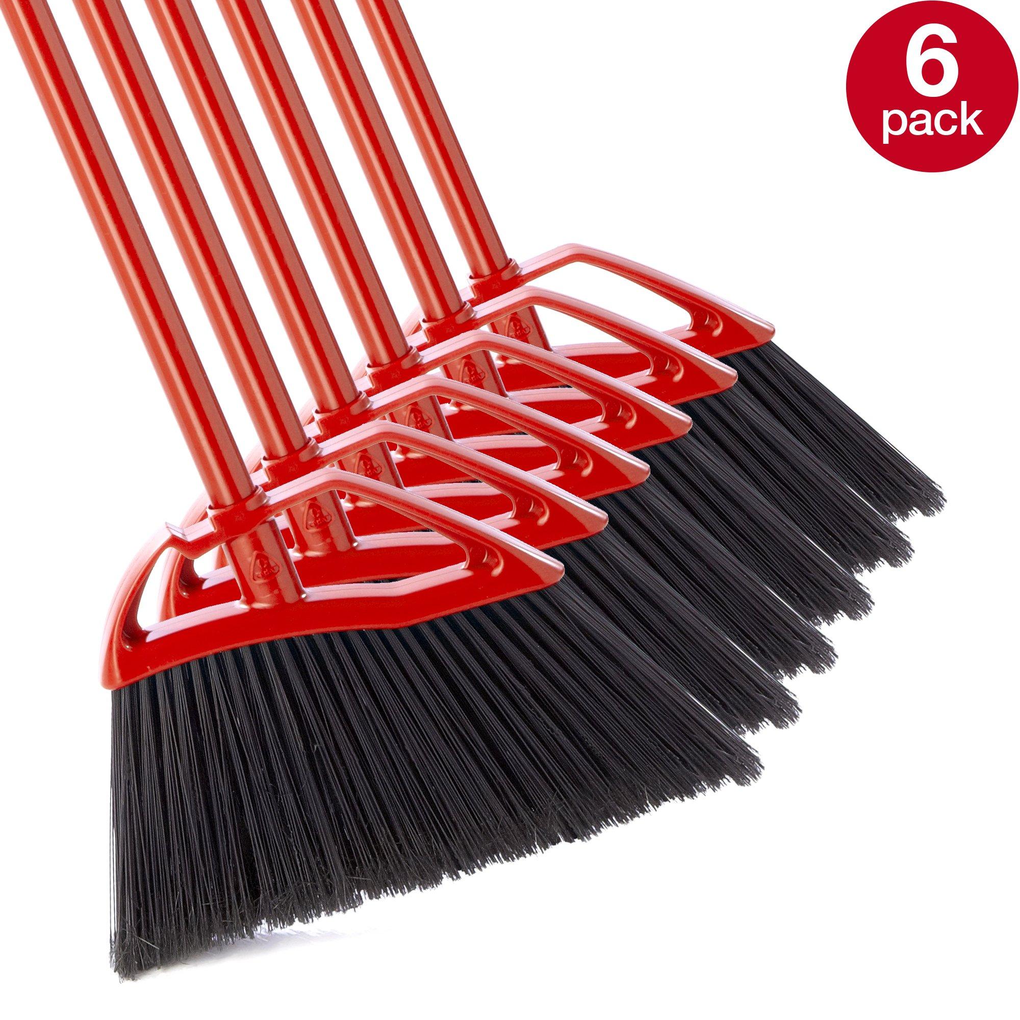 O-Cedar Fast and Easy Angle Broom (Pack - 6)