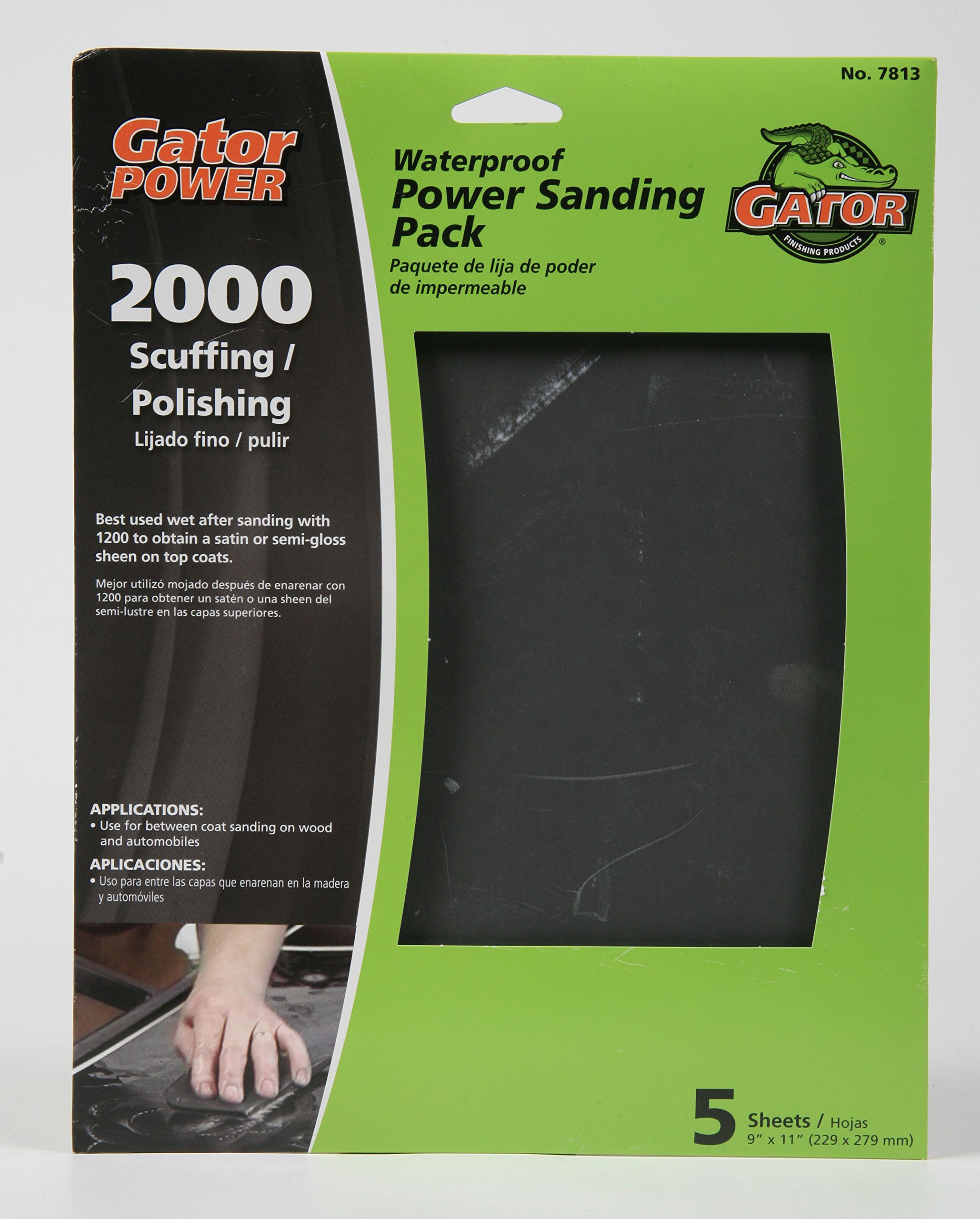Gator Finishing 4244 120 Grit Silicon Carbide Sanding Sheets 25 Pack 9 x 11 9 x 11