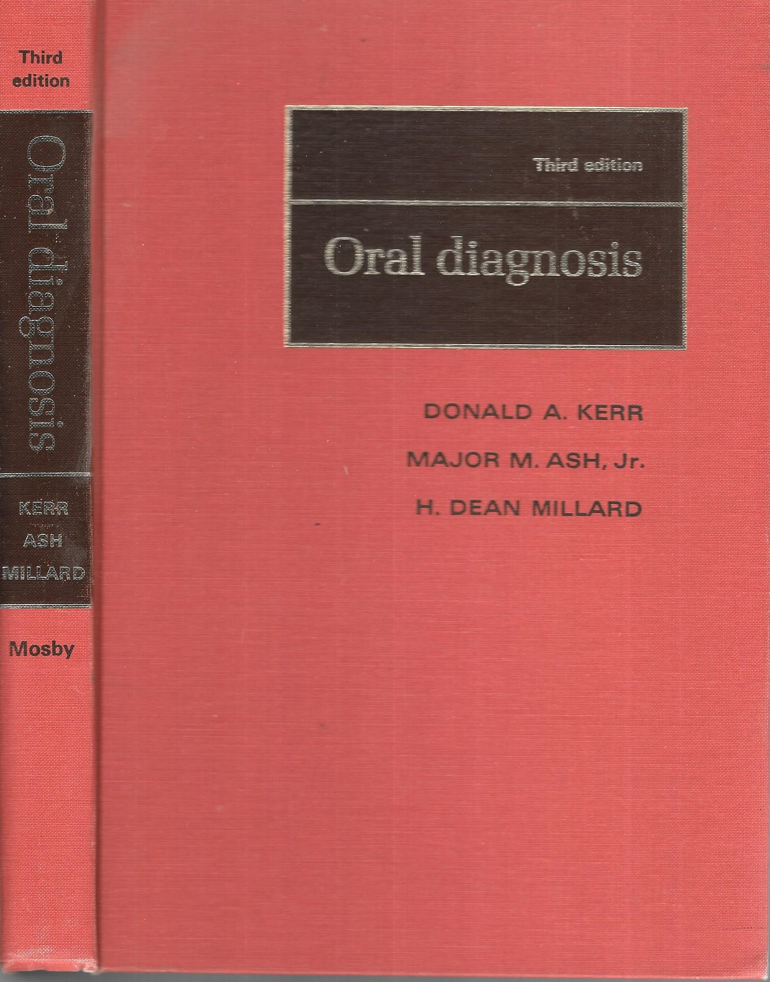 Oral Diagnosis Donald A Kerr Etc 9780801626586 Amazon Books
