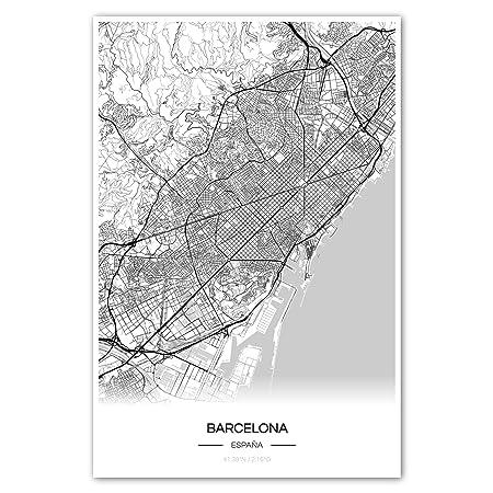 Zulumaps Cartel del Mapa 20x30cm Plano de la Ciudad ...