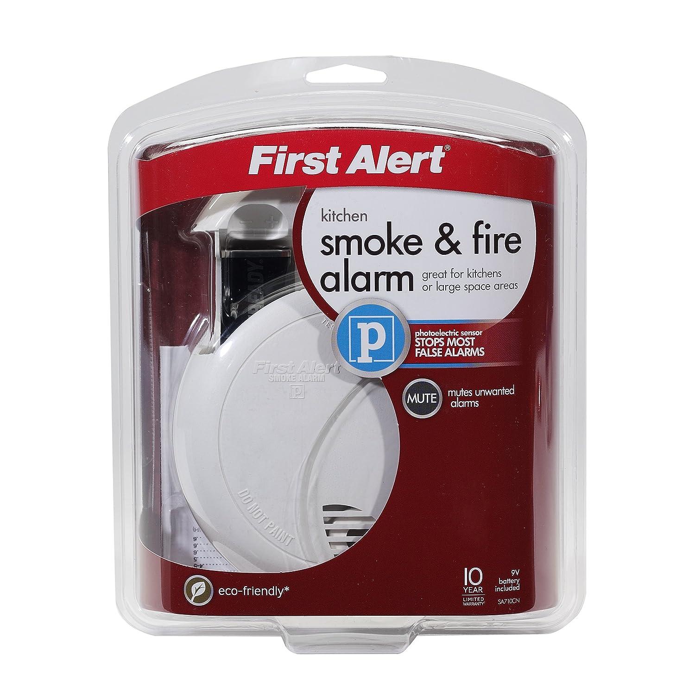 First Alert sa710b First Alert Detector de Humos fotoeléctrico, batería de 9 V: Amazon.es: Bricolaje y herramientas