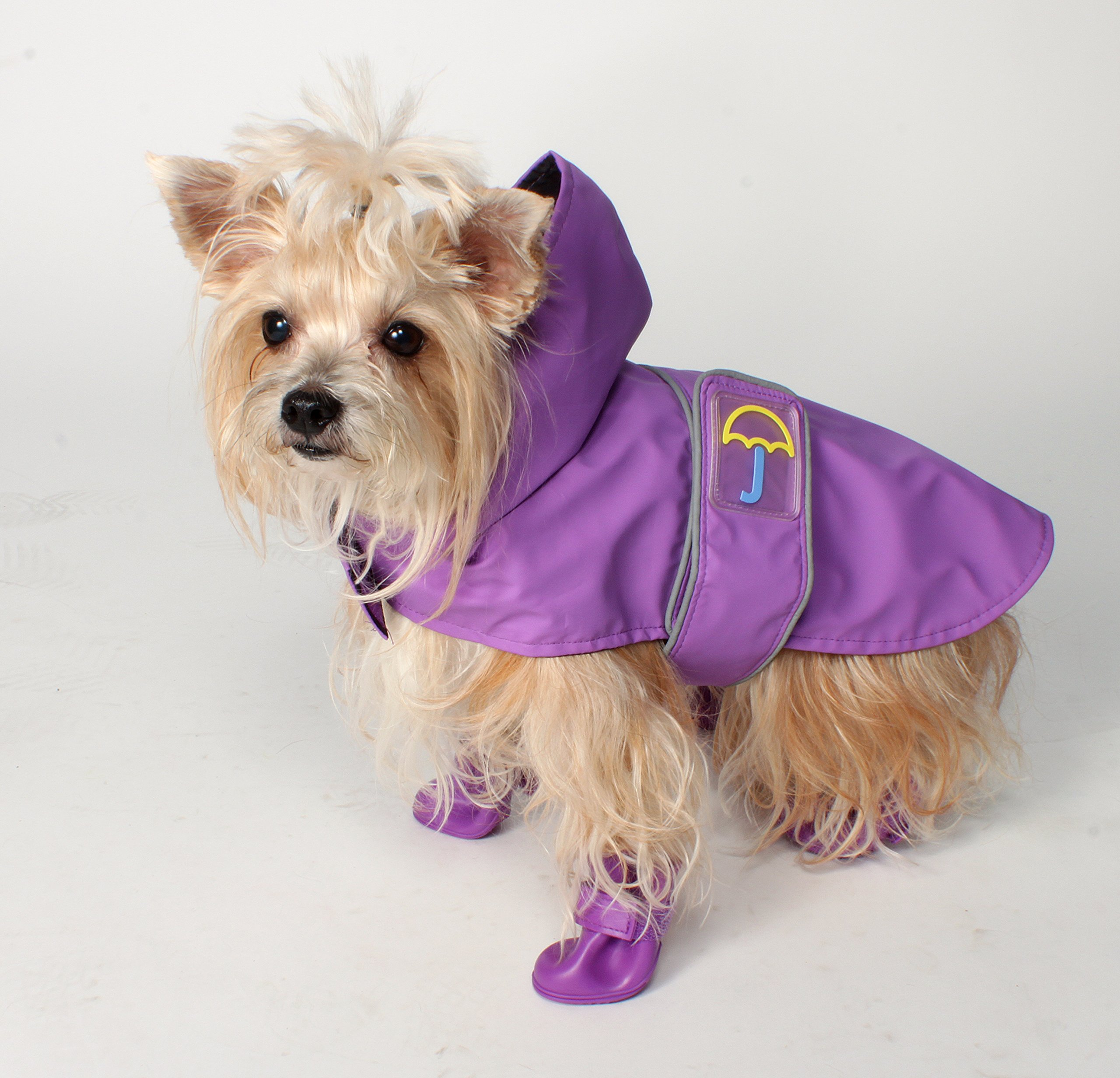 Jelly Wellies Premium Quality Waterproof Reflective Classic Raincoat for Dogs- Medium, Purple by American Kennel Club (Image #3)