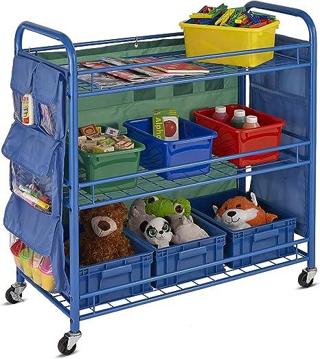 Honey-Can-Do 3-Tier Rolling Teacher's Activity Cart CRT-03477 Rolling cart