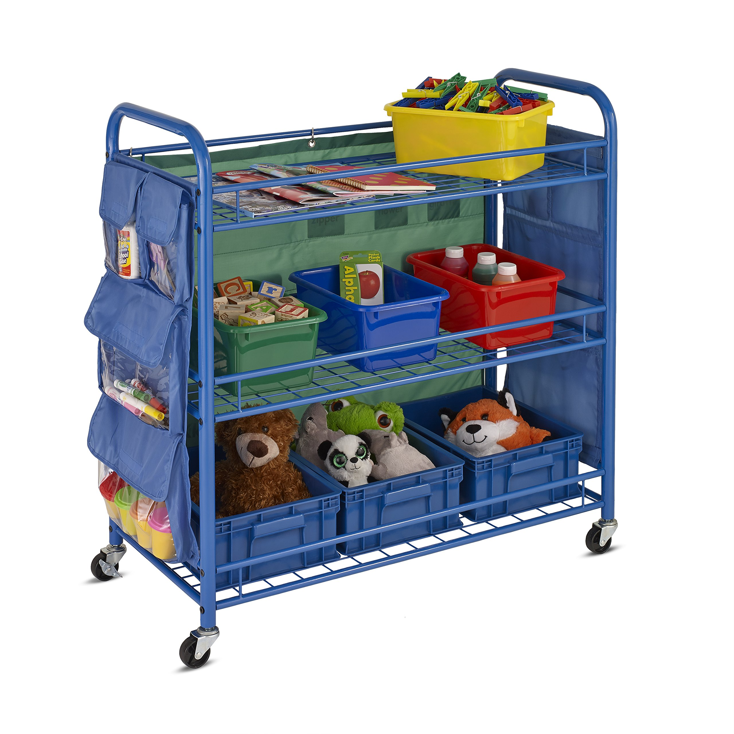 Honey-Can-Do All- Purpose Rolling Activity Cart, 34L x 35H, Blue by Honey-Can-Do