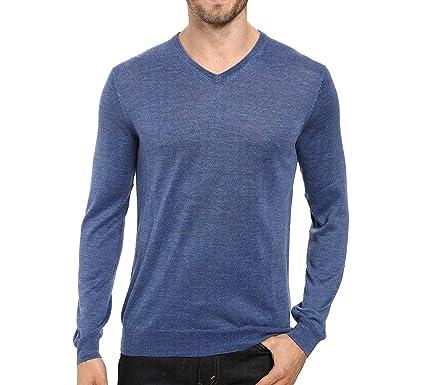 bce9cbefd4031b Calvin Klein Men's Extra Fine Merino Wool V-Neck Sweater at Amazon Men's  Clothing store: