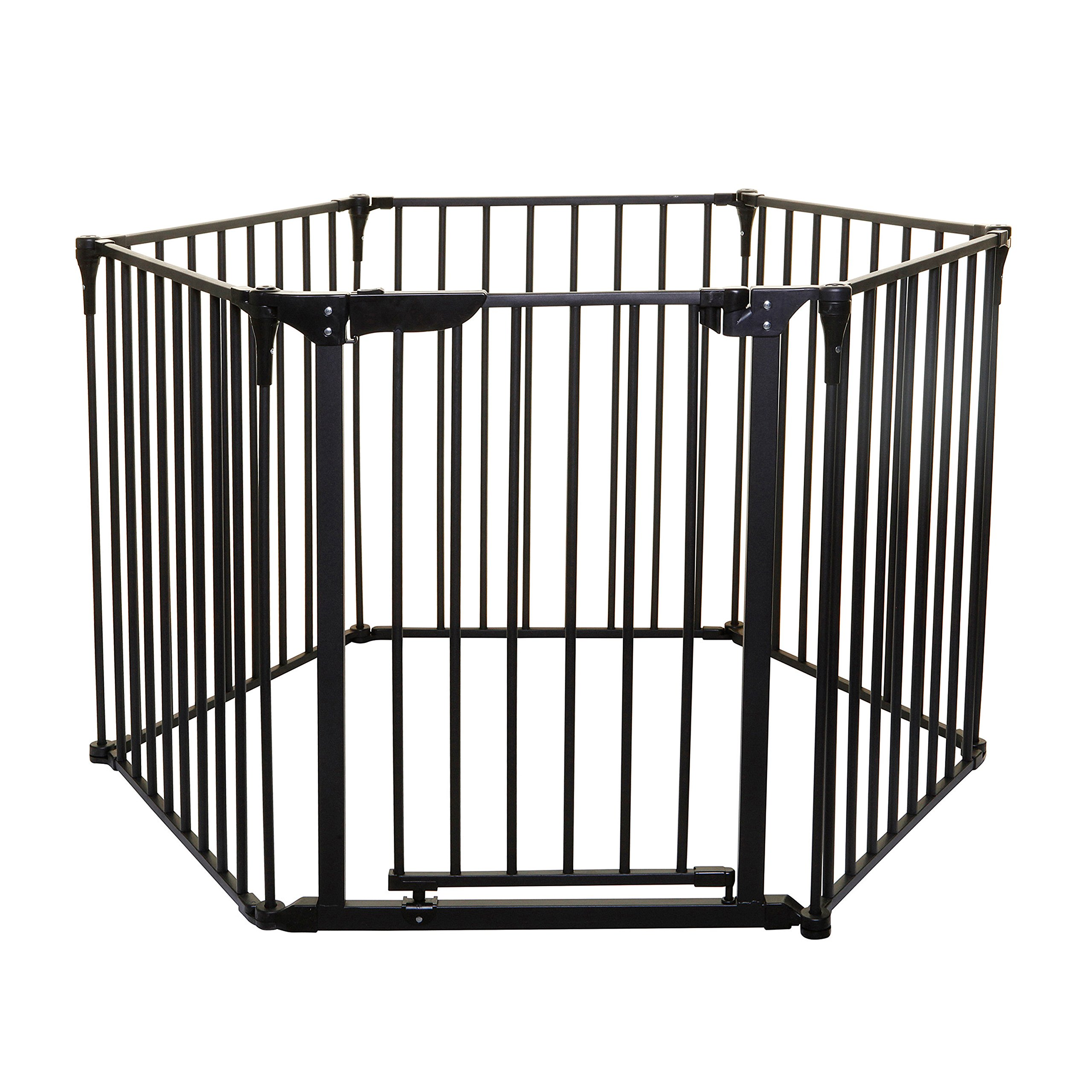 Dreambaby Royale Converta 3 in 1 Play-Yard, Fireplace Guard, and Wide Barrier Gate (Black)