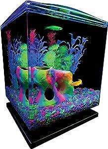 GloFish Aquarium Kit w/ Hood, LED Lights and Whisper Filter