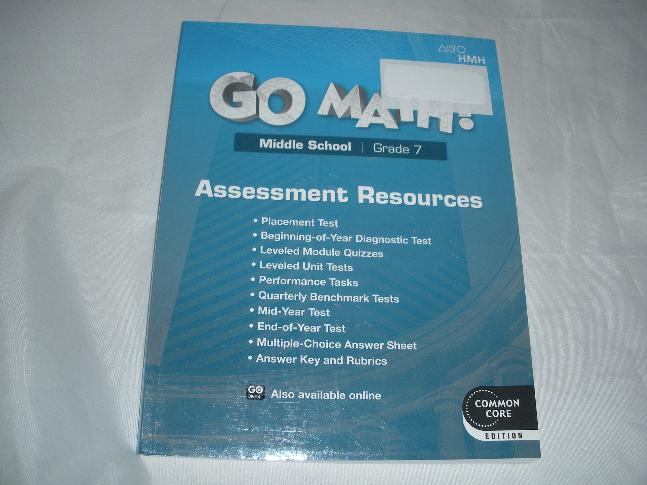 Go Math! Middle School Grade 7 Assessment Resources