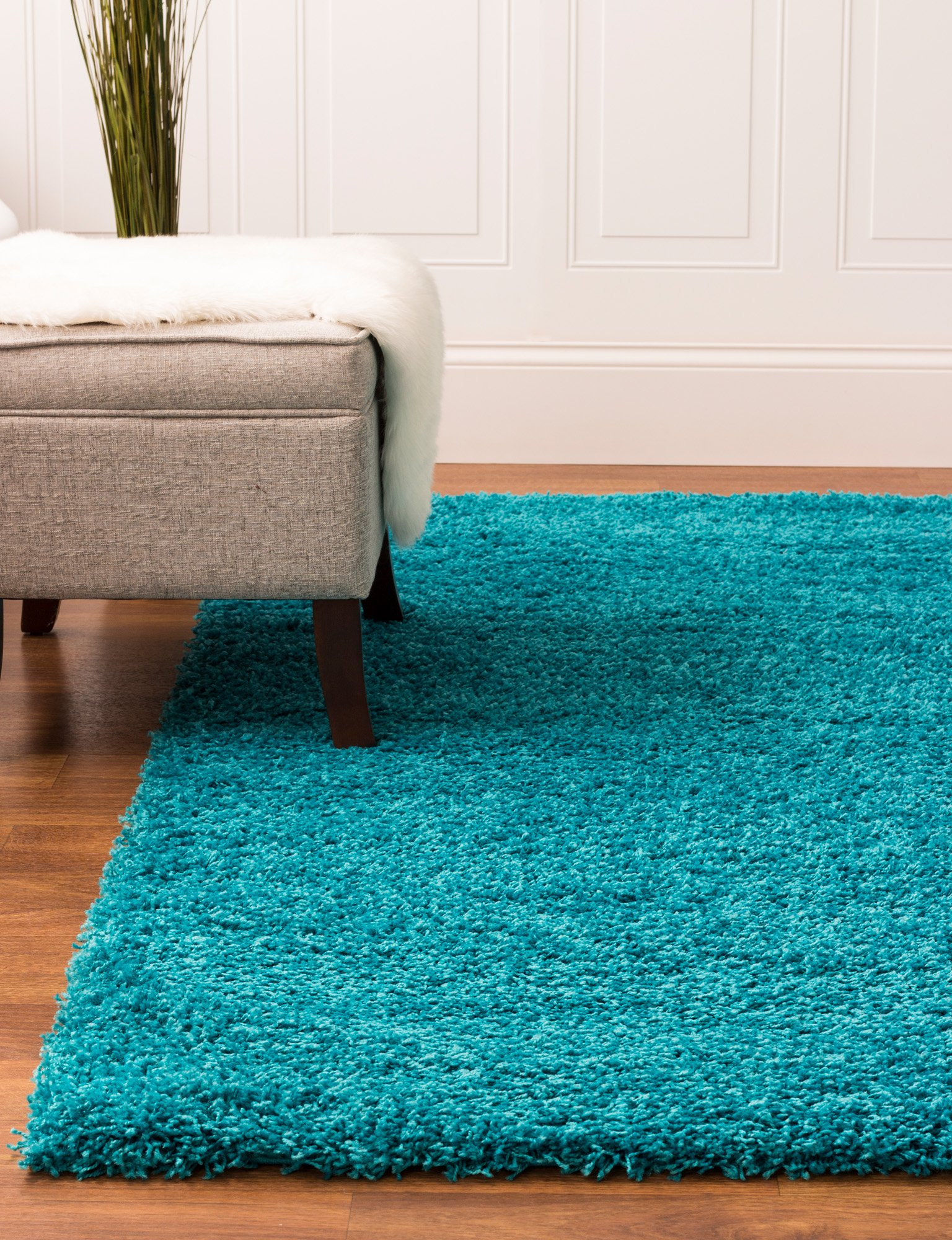 Super Area Rugs Solid Cozy Shag Rug For Home Decor 5 X 8 Turquoise Buy Online In Grenada At Grenada Desertcart Com Productid 42822193