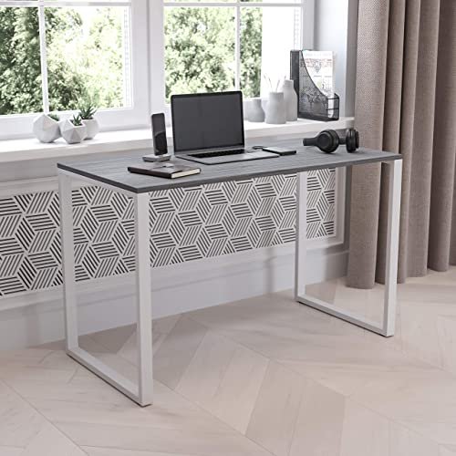 Flash Furniture Modern Commercial Grade Desk Industrial Style Computer Desk Sturdy Home Office Desk