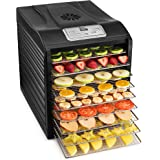 MAGIC MILL Professional Food Dehydrator, 9 Stainless Steel Drying Racks, Multi-Tier Food Preserver, Digital Control, 2 Fruit Leather Trays 1 Jerky Hanging Rack 1 Fine Mesh Sheets, 1 Set Ovens Mitts