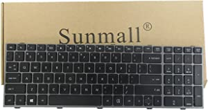 SUNMALL New Laptop Keyboard with Frame for HP ProBook 4540s 4540 4545s Series Compatible with Part Number 702237-001 683491-001 701485-001 Grey Frame US Layout