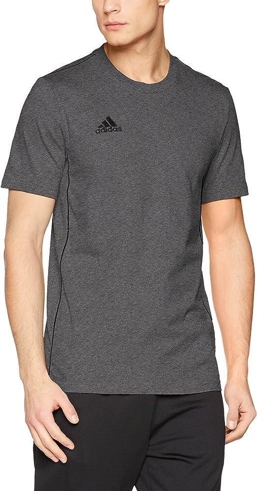 Adidas Core18 tee Camiseta de Manga Corta, Hombre, Dark Grey ...
