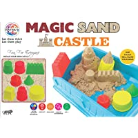 Ratna's Magic Sand Castle, Smooth,Durable and Non Sticky Sand Makes The Product More Playful. Single Colour Sand Comes Along with The Product, The Colour of The Sand May Vary