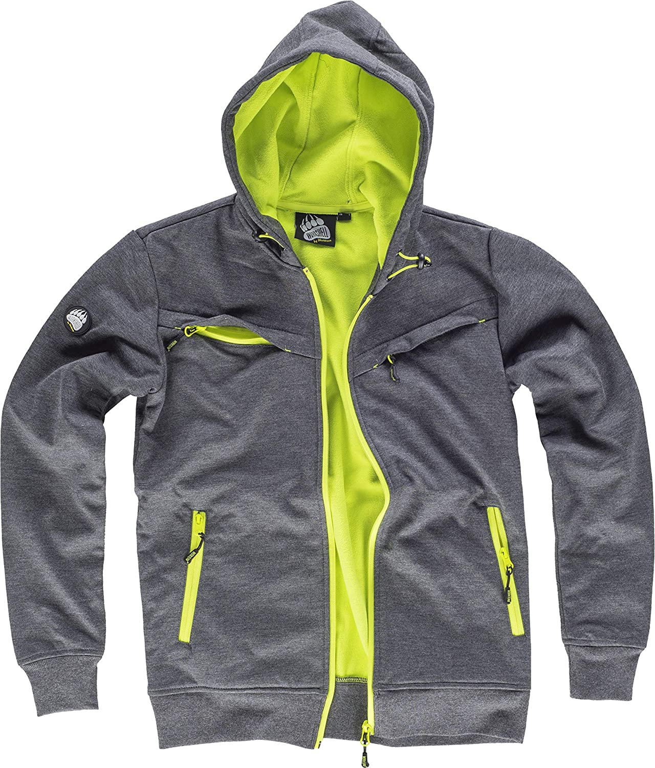 WORKTEAM - CHAQUETA WORKSHELL S9482 (T-S, GRIS/AMARILLO ...