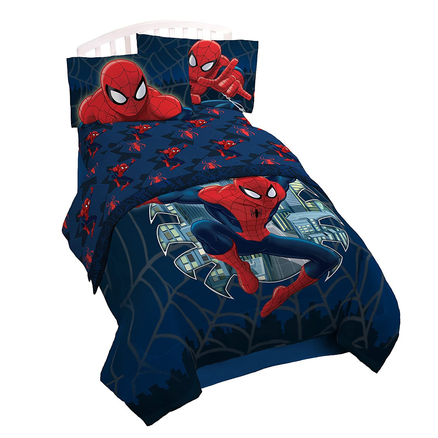 Spiderman and friends bedding - Amazon Com Marvel Spiderman Supreme Microfiber 3 Piece Twin Sheet Set Home Kitchen