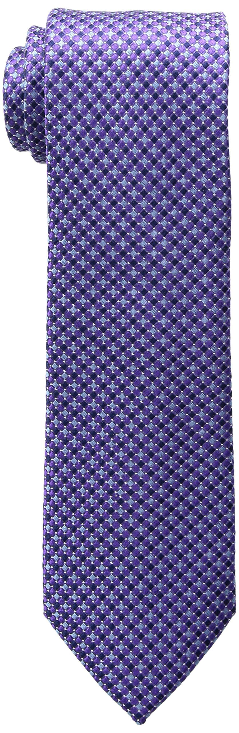 Tommy Hilfiger Men's Core Micro Tie, Purple, One Size