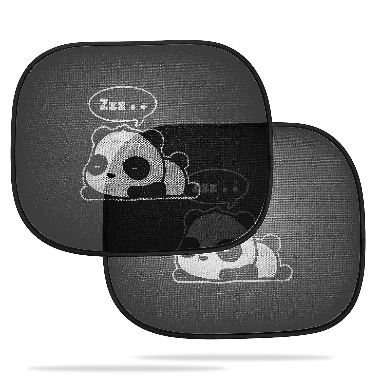 Dojoy Car Panda Self-Adhesive Sunshade for Side Window Protects Against Harmful UV Rays Baby Kid Universal Fit 3D Photocatalysis Mesh