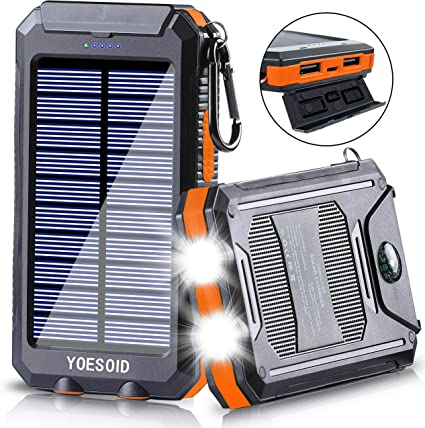 Amazon.com: YOESOID Cargador solar portátil de 20000 mAh ...