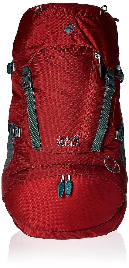 0bb8aeebf3 Jack Wolfskin Women's ACS Hike Pack Rucksack, Indian Red, 30 L ...