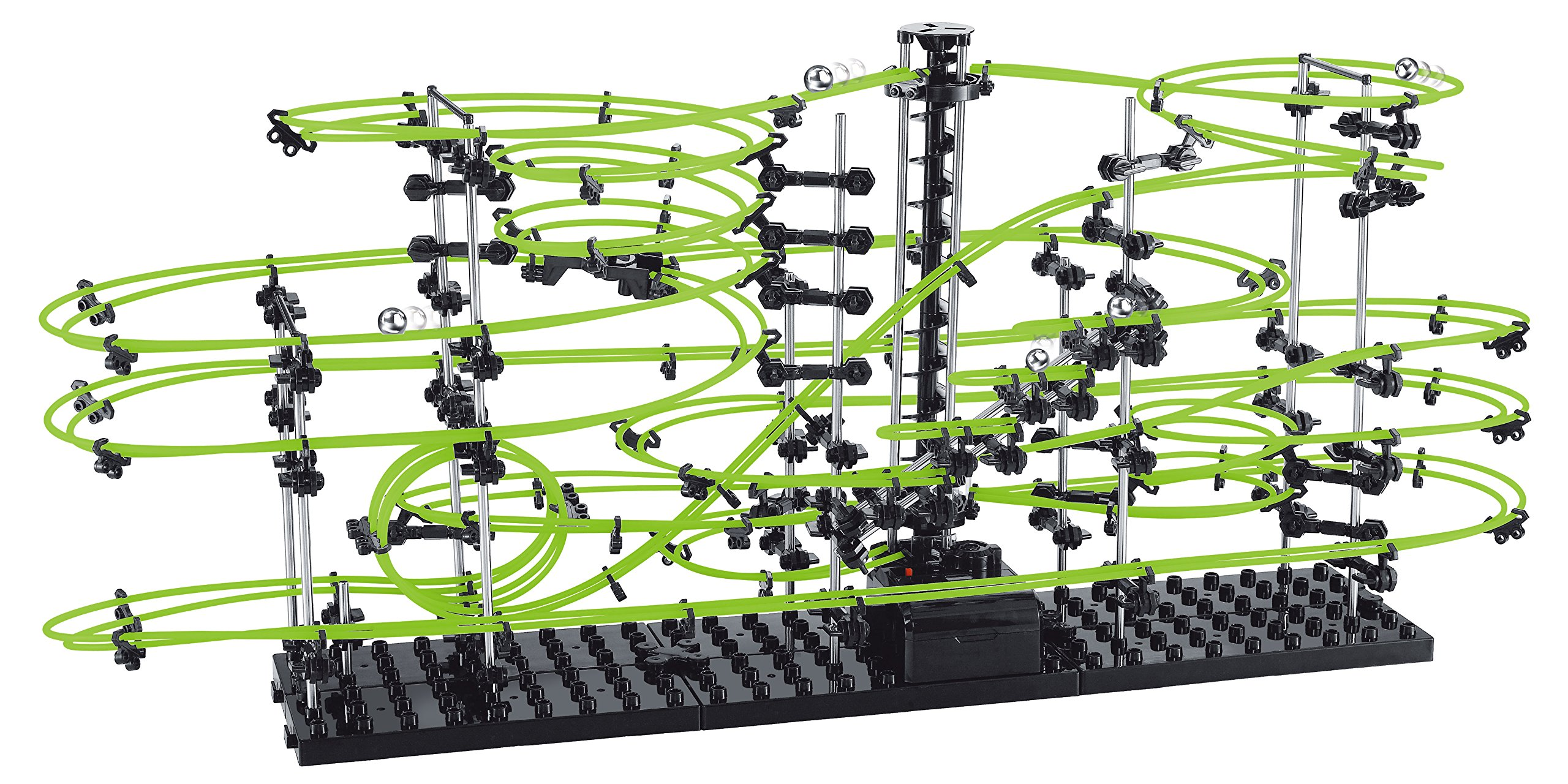 SpaceRail Glow in The Dark 22,000mm Rail, Roller Coaster Building Set, Marble Roller Coaster Kit with Steel Balls, Great Educational Toy for Boys and Girls, Level 4.2