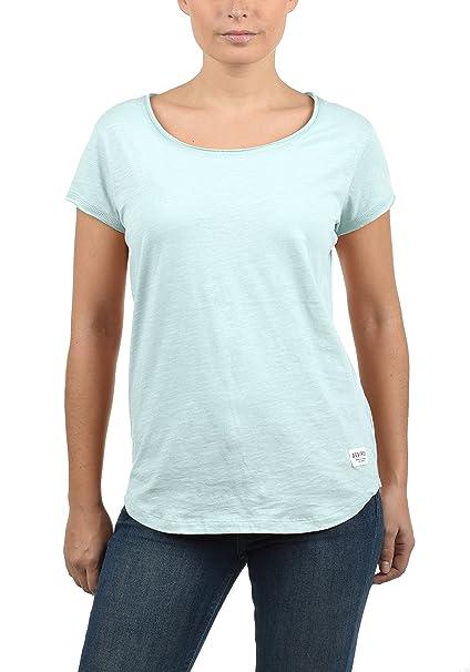 Desires Lydi Camiseta Básica De Manga Corta con con Cuello Redondo De 100% algodón,