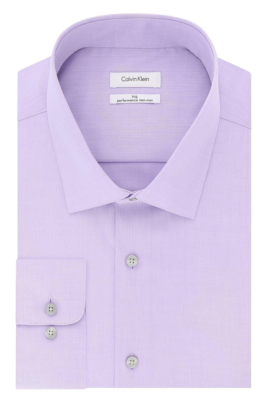0c29bff7 Amazon.com: Calvin Klein Men's Big and Tall Dress Shirts Non Iron  Herringbone Solid: Clothing