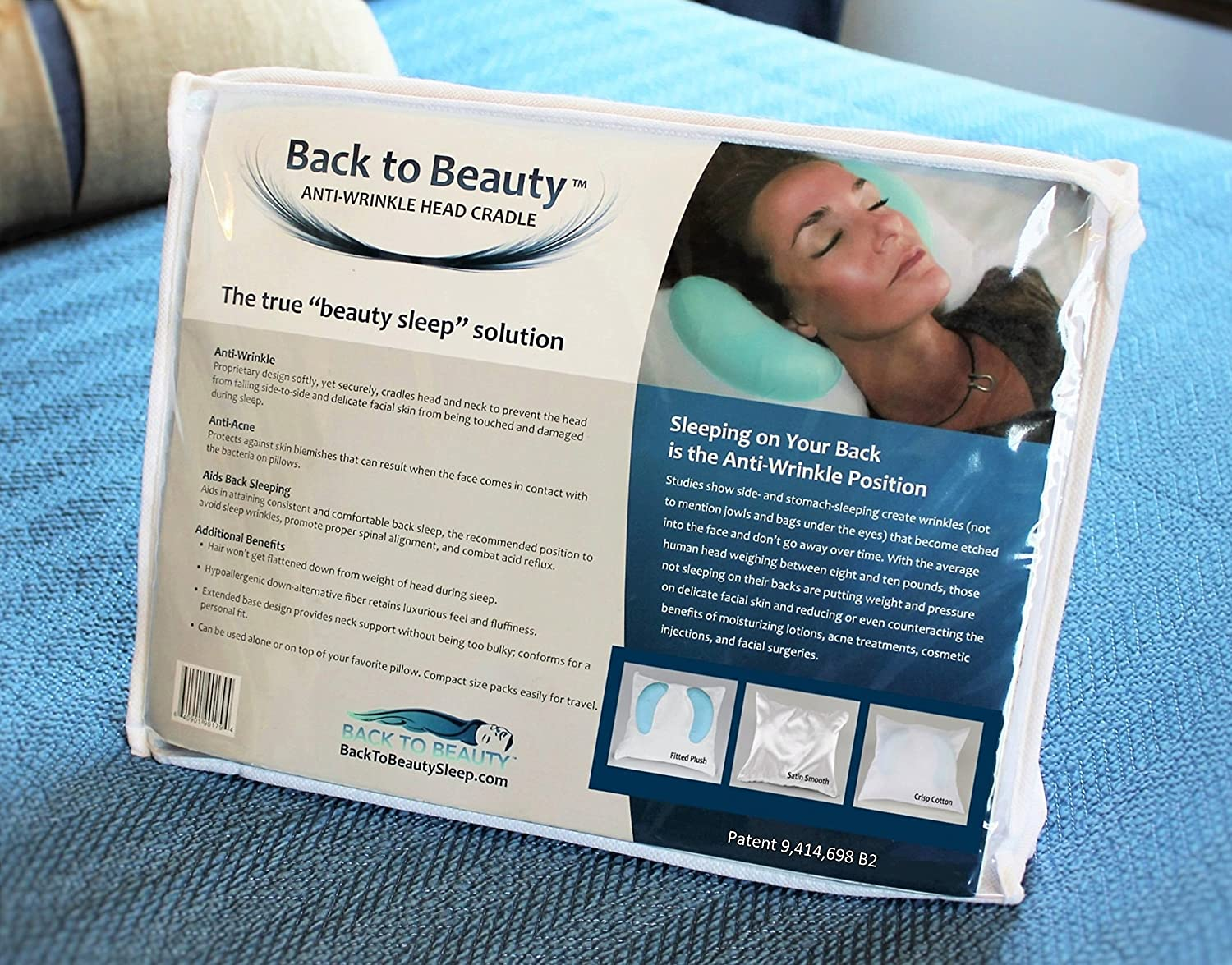 Amazon.com: Back To Beauty Anti Wrinkle Head Cradle (Beauty Pillow): Home U0026  Kitchen