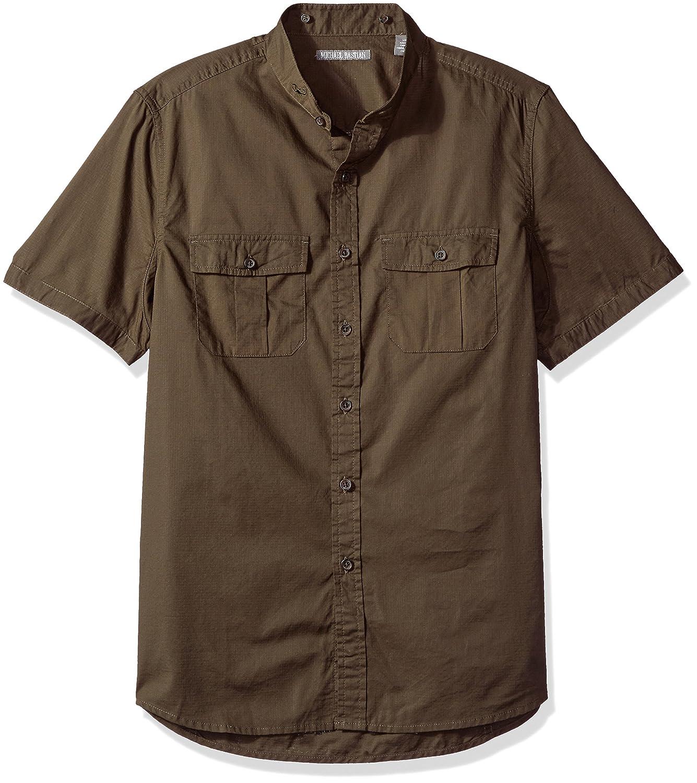 Michael Bastian Mens Short Sleeve Cotton Safari Shirt