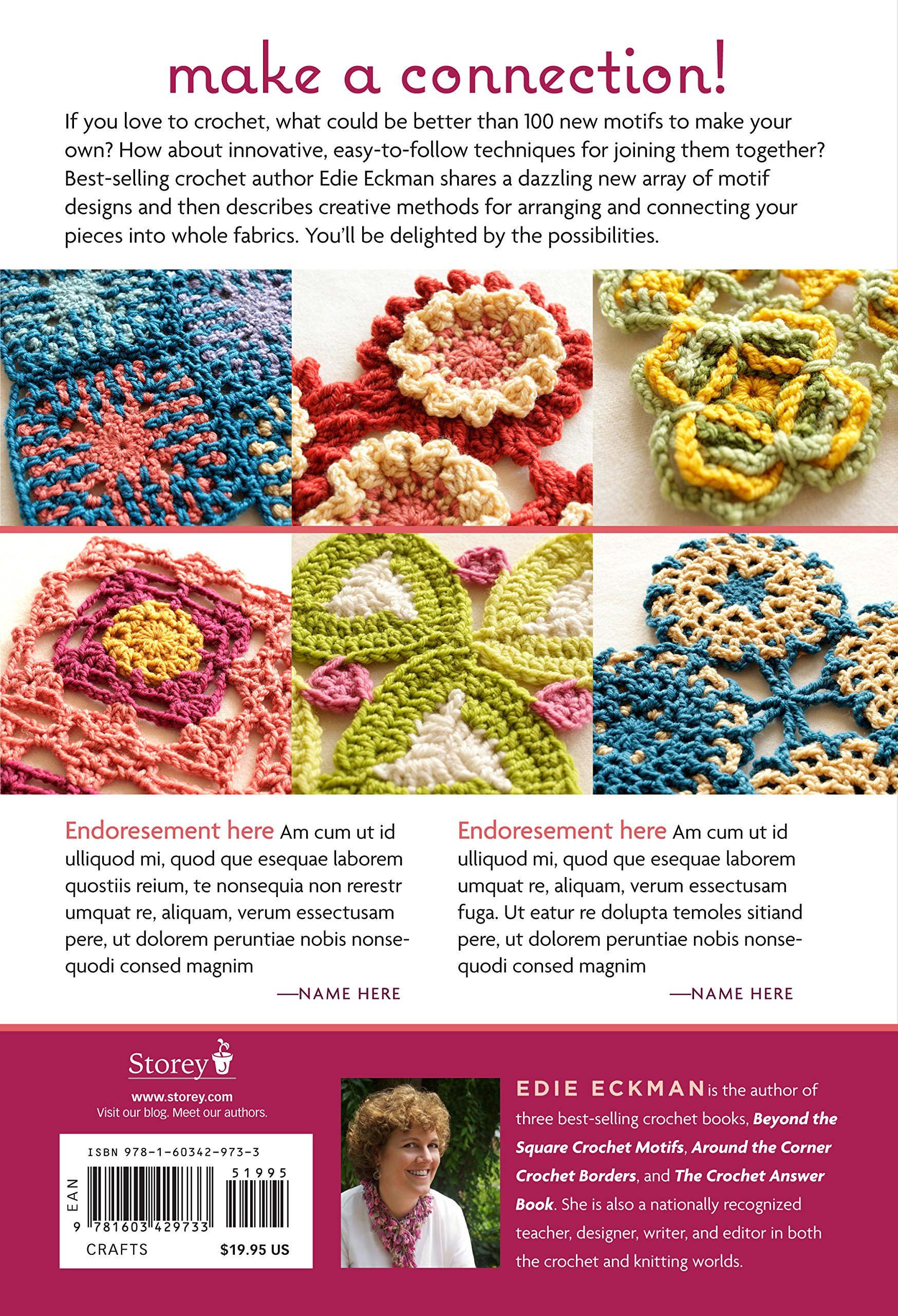 Connect the Shapes Crochet Motifs: Creative Techniques for Joining Motifs  of All Shapes; Includes 101 New Motif Designs: Edie Eckman: 9781603429733:  ...