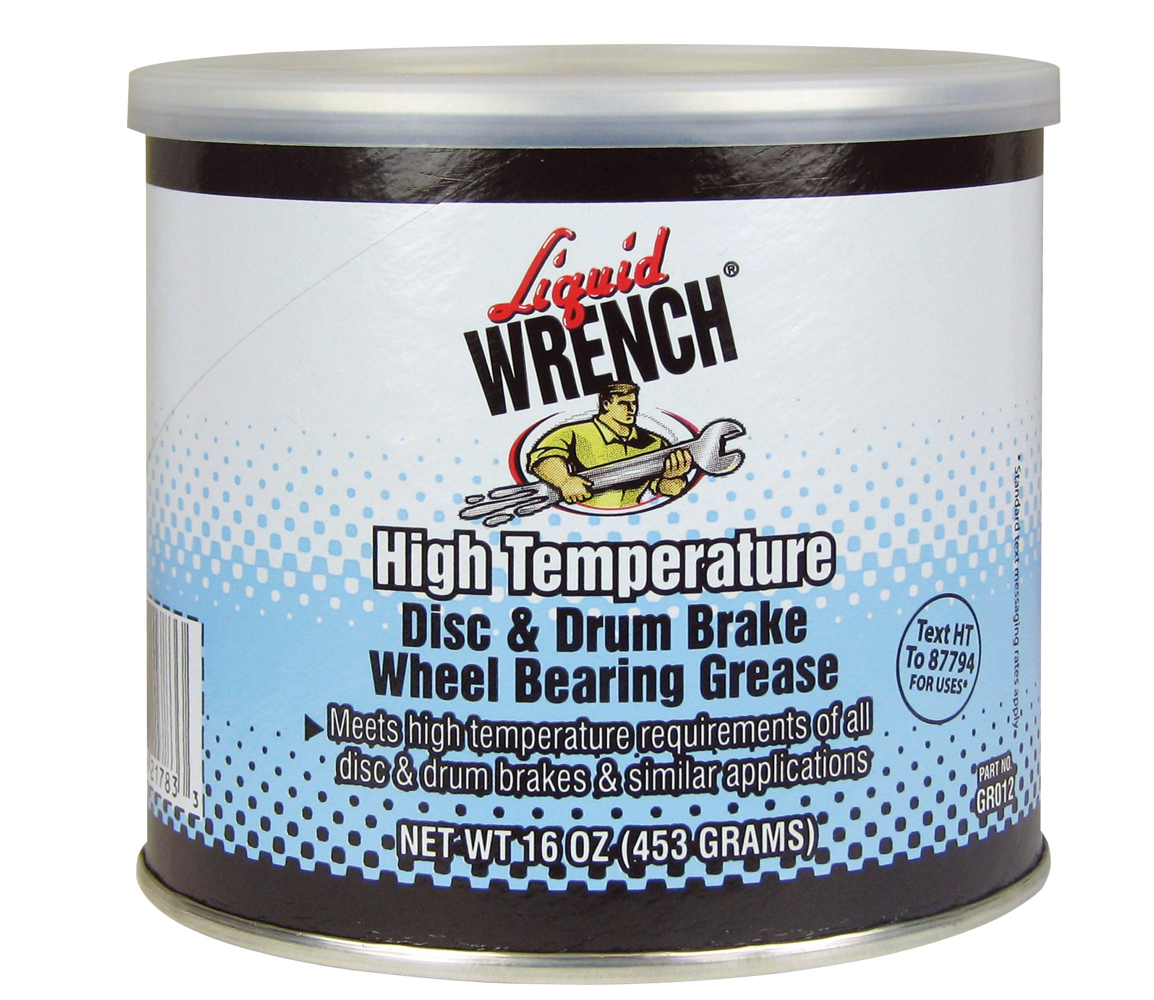 Liquid Wrench GR012 Disc and Drum Brake Wheel Bearing Grease - 16 oz.