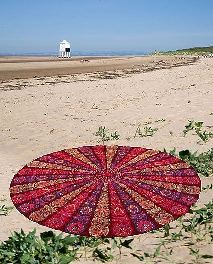 Mandala Tapestry Indian Hippie Round Roundie Beach Throw Towel Boho Yoga Mat
