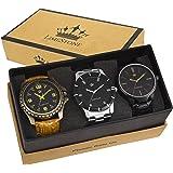 Limestone Analogue Multi-Colour Dial Men's Watch -LS2601+2602+2607