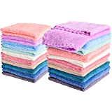 Kyapoo 20 Pack Baby Washcloths Microfiber Coral Fleece Extra Absorbent and Soft for Newborns, Infants and Toddlers