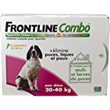 Merial - FRONTLINE COMBO Grand chien 20-40kg - 6pip - Anti-puce, anti-tique