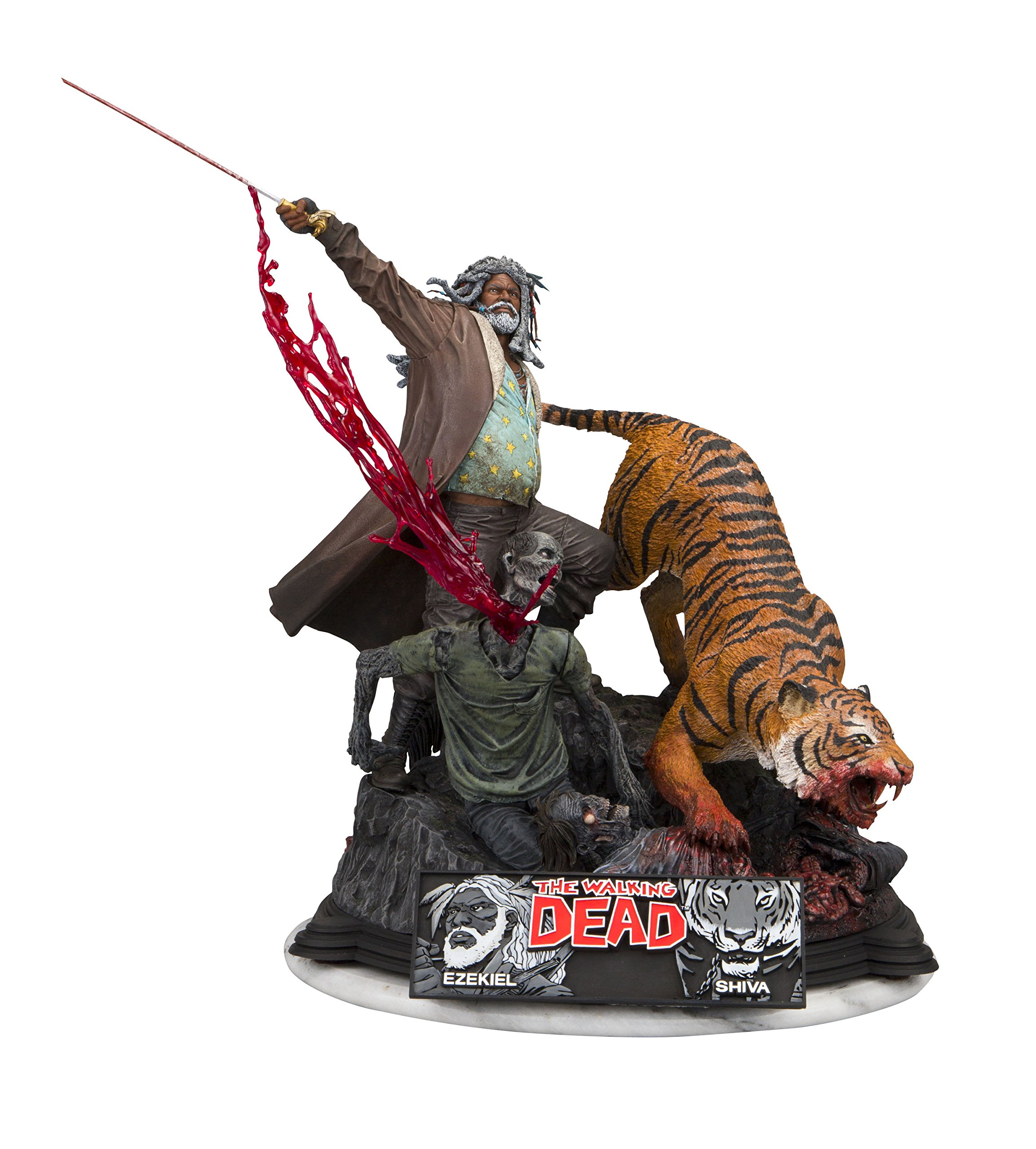 McFarlane Toys the Walking Dead Ezekiel and Shiva Limited Edition Resin Statue Action Figure