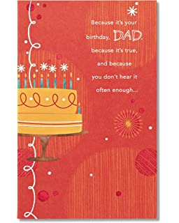 Amazon american greetings awesome job birthday card for dad american greetings youre loved birthday card for dad with glitter m4hsunfo