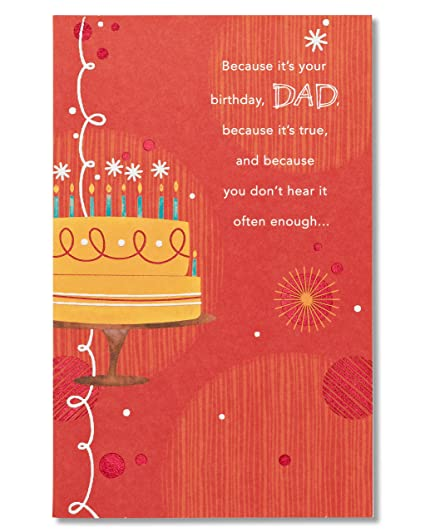 Amazon american greetings youre loved birthday card for dad american greetings youre loved birthday card for dad with glitter m4hsunfo