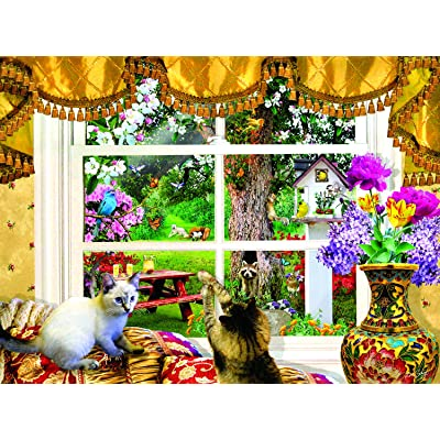 Through a Window 1000 pc Jigsaw Puzzle by SUNSOUT INC: Toys & Games