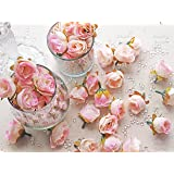 Wedding Touches - Boccioli di rosa decorativi, in seta sintetica, motivo: fiori, colore: rosa chiaro