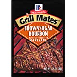 McCormick Grill Mates Brown Sugar Bourbon Marinade, 1.25 oz, Featuring Brown Sugar, Bourbon and Red Bell Peppers for the Perfect Beef or Chicken, Marinade and Grill to Perfection