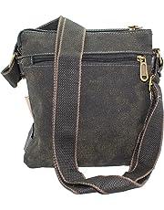 Women's Black Vintage Denim Cross Body Casual Bag Canvas Purse Hiking Travel