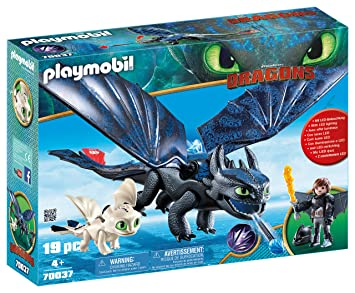 Playmobil Krokmou Et Harold Avec Bébé Dragon 70037