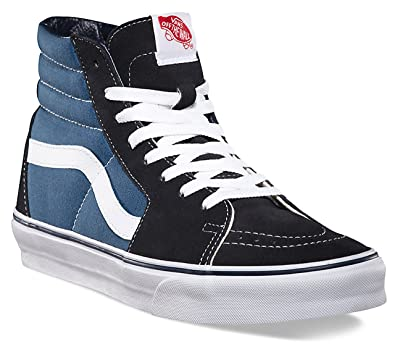Vans SK8 Hi Navy White Red Suede Unisex Trainers Shoes-5 A3gPfxC42