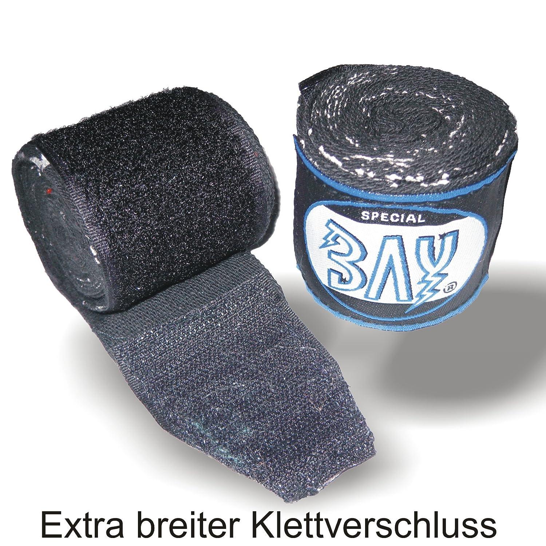 BAY/® SKULL TOTENKOPF schwarz basic 2,5 Boxbandagen Paar f/ür Kinder Kids und Erwachsene geeignet elastisch WICKELANLEITUNG Box-Bandagen 2,5 Meter x 5 cm